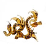 Hand-Blown Brown Glass Dragon, fig. 1