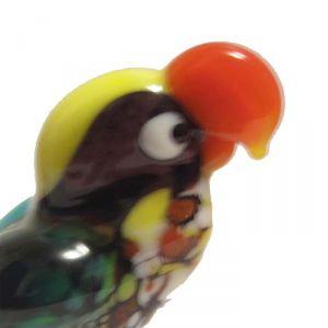 Glass Parrot Figurine