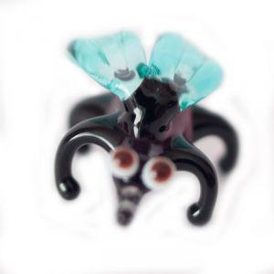 Glass Fly Figurine