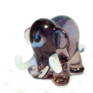 Violet Elephant Figurine, fig. 2