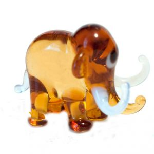 Brown Glass  Elephant Figurine, fig. 1