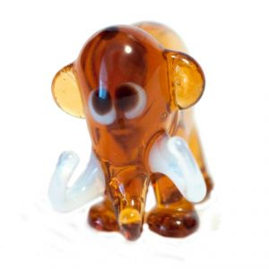 Brown Glass  Elephant Figurine, fig. 2
