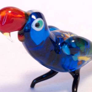Parrot glass figurine