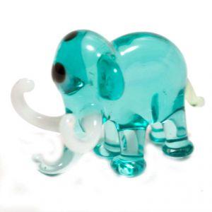 Elephant Glass Figurine