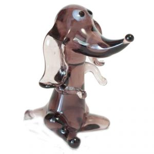 Glass Sitting Dachshund