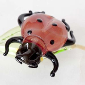 Ladybird glass figurine