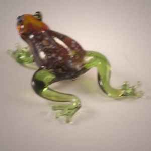 Glass Frog Figurine