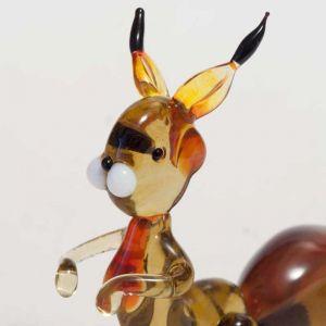 Squirrel glass figurine