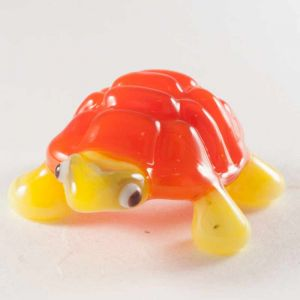Turtle glass figurine