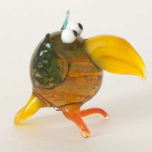 Glass Crow Figure