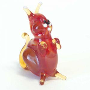 Blown Glass Figurine Squirrel