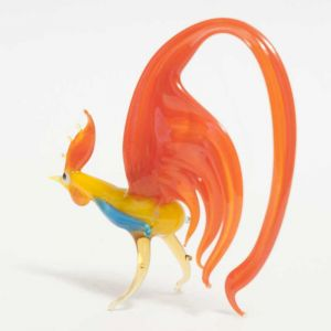 Glass Rooster Figurine