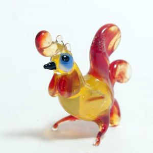 Colorful Rooster Figurine