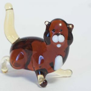 Blown Glass Brown Cat, fig. 3
