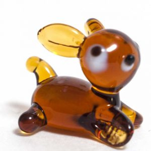 Glass Deer Bambi Figure