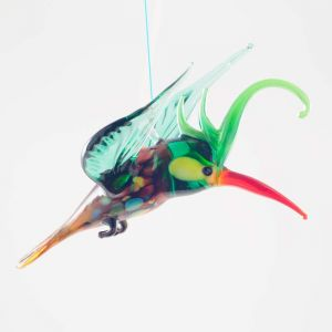 Parrot Glass Hanging Figurine