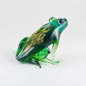 Glass Green Sitting Frog, fig. 1