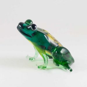 Glass Green Sitting Frog, fig. 3