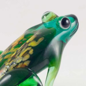 Glass Green Sitting Frog, fig. 5