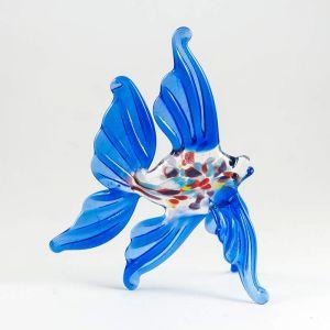 Glass Golden Fish Figure