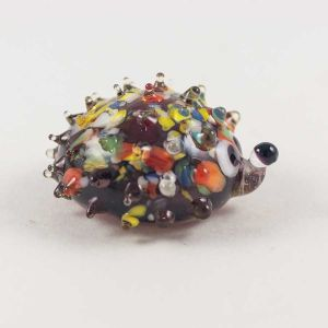 Hedgehog Glass Figure