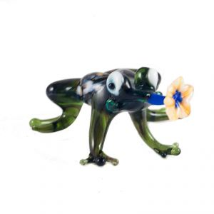 Glass Figurine Frog with Flower, fig. 3