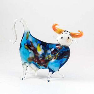 Cow glass figurine