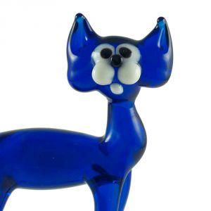 Glass Blue Cat Figure, fig. 4
