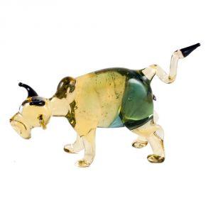 Glass Bull Figurine
