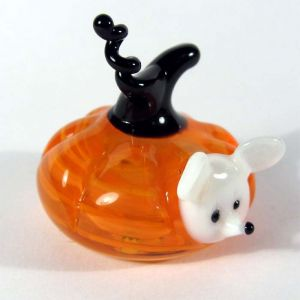 Glass Mouse in the Pumpkin