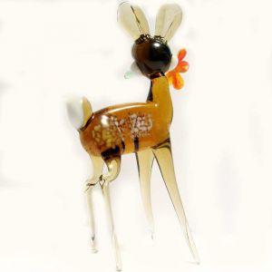Glass Bambi Figurine