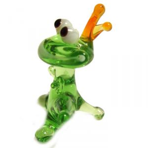 Frog Glass Figurine