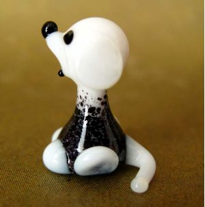 Doggy  glass figurine