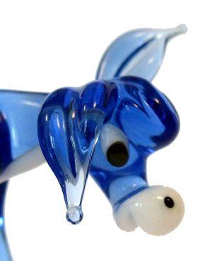 Donkey glass animal figurine