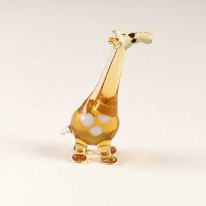 Giraffe mini glass figurine
